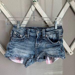 Miss Me Girl's 10 KE8701H Bling Shorts
